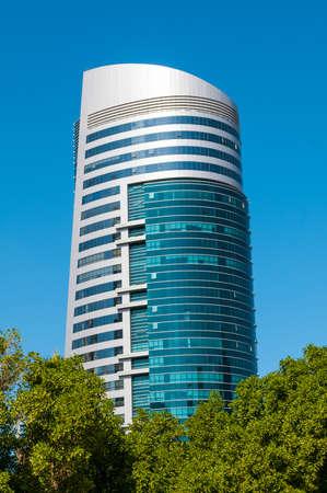 industrialized: SHARJAH, UAE - Decemeber 10, 2013  General view of modern building in Sharjah  Most industrialized emirate in UAE