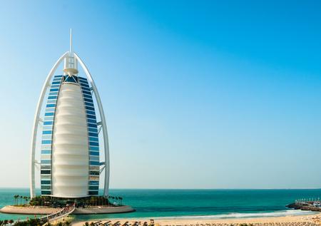 DUBAI, UNITED ARAB EMIRATES - DECEMBER, 10, 2013  Burj Al Arab hotel in Dubai