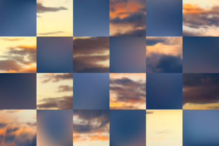 Beautiful cloudscape.  Vector