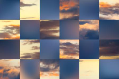 Beautiful cloudscape.  Vector