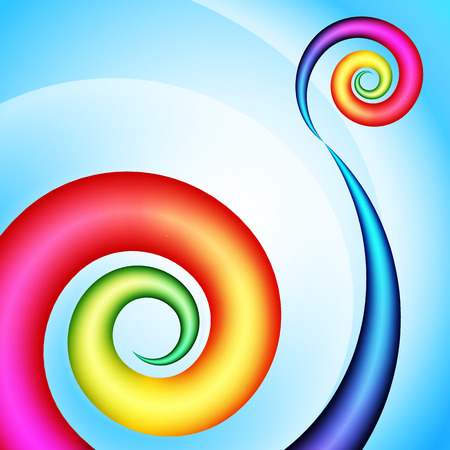 circular flow: Abstract swirl shape. Illustration