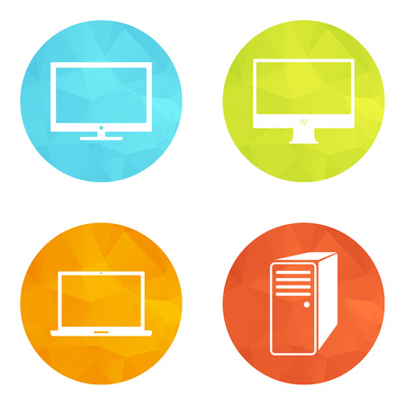 Set Infographic web icons or flat design elements.  Vector
