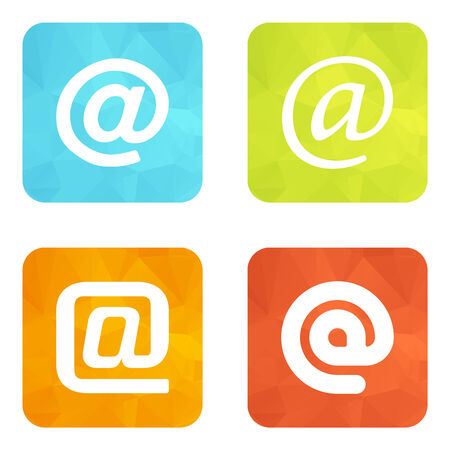 email symbol: Set of web icons or flat design elements.