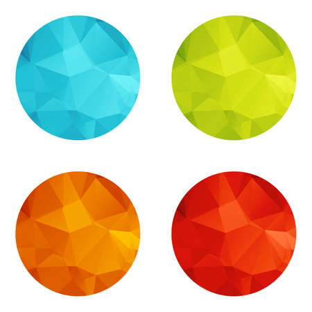 Templates for web icons or flat design elements. Eps 10 vector illustration. Used transparency layers for elements of layout Vector