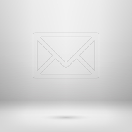 Contour icon in empty light interior for your creative project. Vector