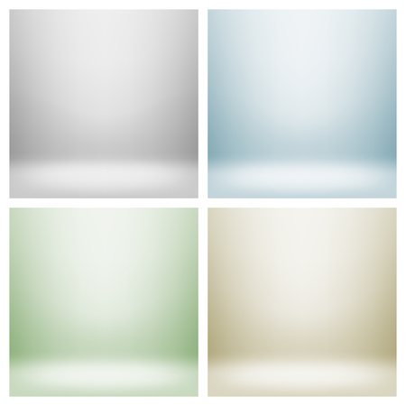 Set of empty light interiors for your creative project illustration  Used gradient mesh and transparency layers Vector