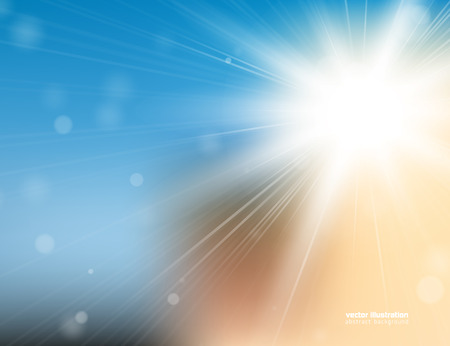 Abstract background with bright sunlight and blured bokeh. Stock Vector - 29229395