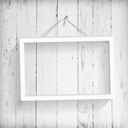 wood frame: Vintage background Illustration