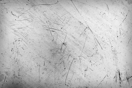 Scratched and spotted a metal aluminium sheet