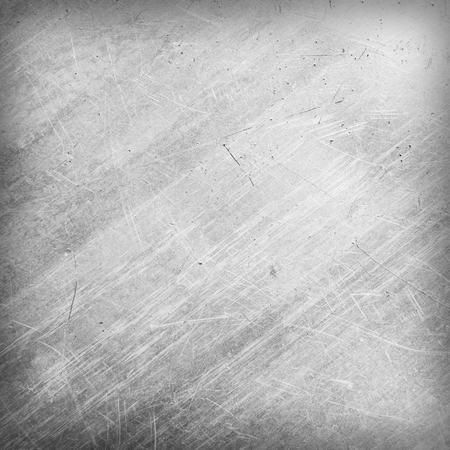 silver metal: Scratched and spotted a metal sheet Stock Photo