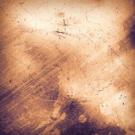 oxidado: Rayado y manchado de una lámina metálica. imagen de tonos