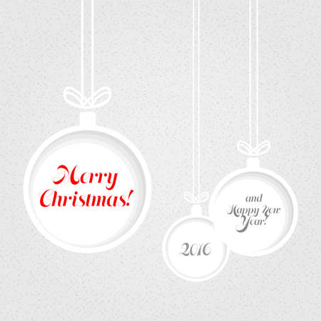 textured paper: Vintage Christmas background of balls cut from textured paper.