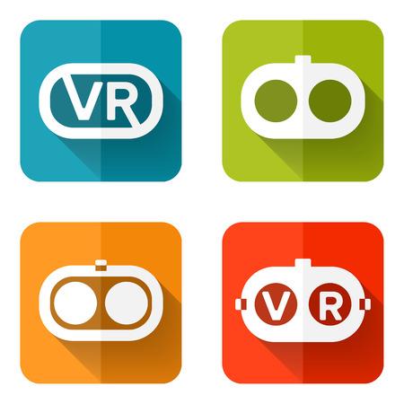 Ensemble d'icônes web ou des éléments de design plat. Headset illustration vectorielle. couches occasion de transparence pour les éléments de mise en page