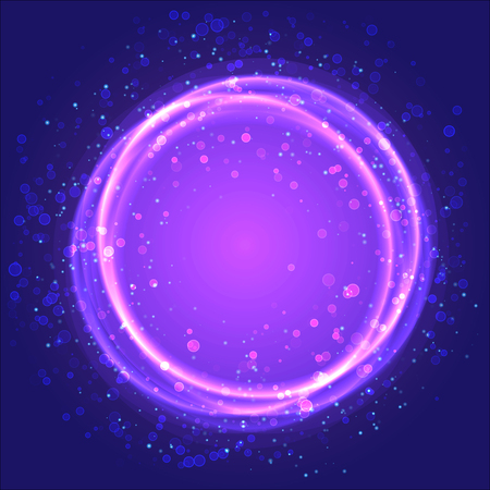 asterism: Cosmic abstract background. Vector illustration. Used transparency layers of particles Illustration