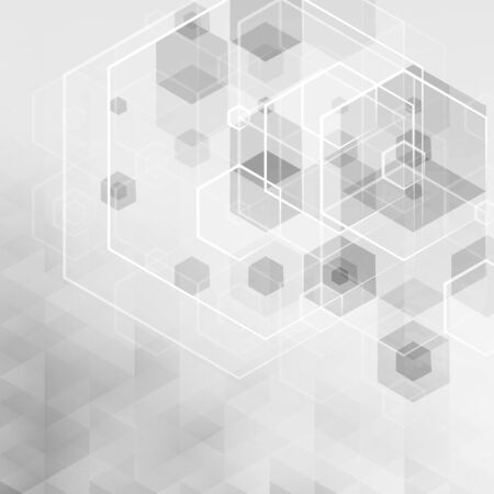 abstract cubes: Abstract technology background. Lowpoly vector illustration. Used effect transparency layers of lights and shapes Illustration