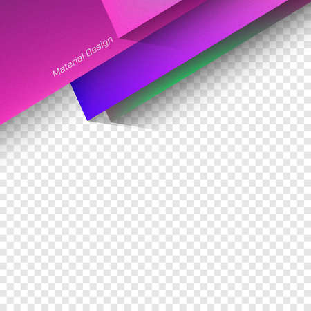 opacity: Vector Material Design. Trendy vector illustration. Used opacity layers for shadows