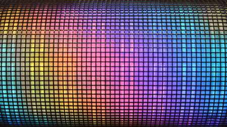 equaliser: Colorful abstract disco background from many multiple squared equaliser Stock Photo