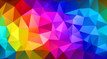 rainbow background: Colorful triangular abstract background.