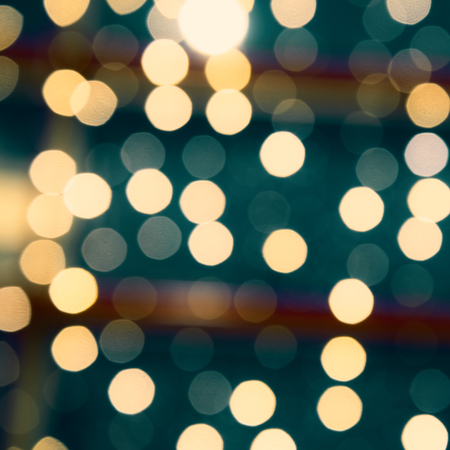 light circular: Beautiful background from blurred lights of interior. Color toned Stock Photo