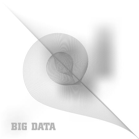 computer data: Swirl abstract background. Concept of big data and computer generated render