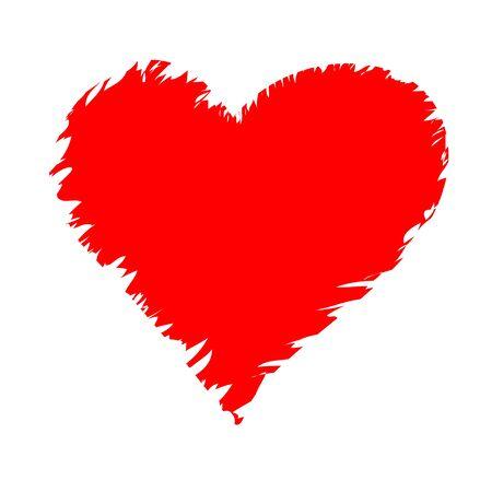 Red torn heart. Vector illustration