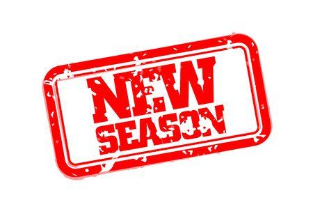 New season rubber stamp vector illustration
