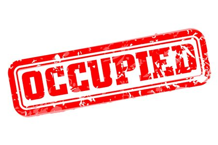 occupied: Occupied rubber stamp vector illustration