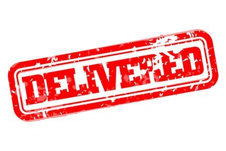 delivered: Delivered rubber stamp vector illustration