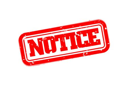 notice of: Notice rubber stamp vector illustration