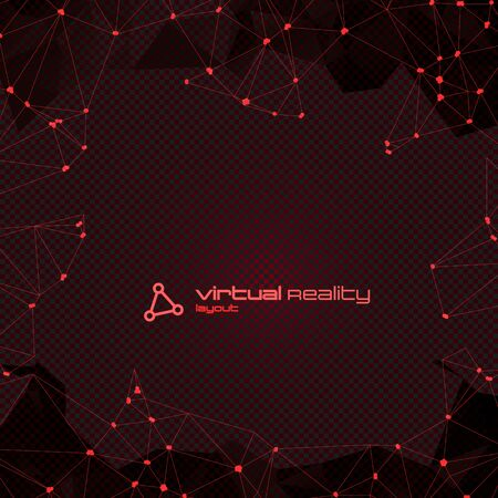 Abstract Polygonal Futuristic Background with copyspace. Vector Lowpoly Illustration. Used opacity layers and transparency