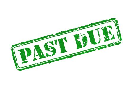 past due: Past due rubber stamp