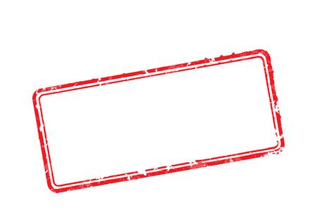 Frame of rubber stamps Illustration