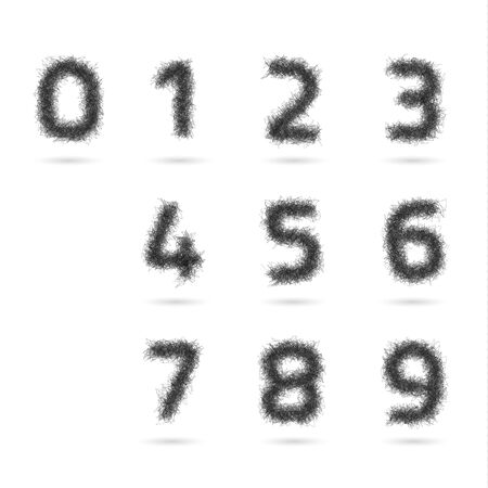 education concept: A Vector set numbers on a white background. Illustration