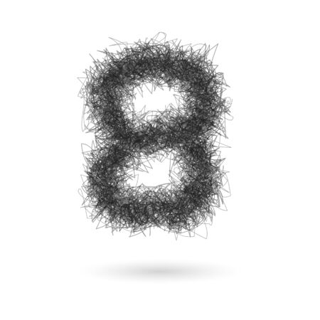 education concept: A Vector scribble numbers on a white background.