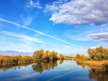 Autumn River Landscape In Russia Stockfoto