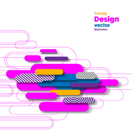 Abstract rounded banner Illustration