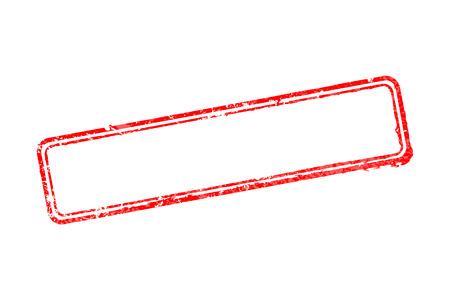 赤い境界線が白で分離されたゴムスタンプの空のフレーム  イラスト・ベクター素材