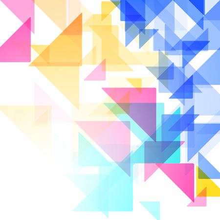 Geometrische eenvoudige minimalistische achtergrond. Triangles Vector illustratie