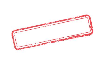 Vectorillustratiekader van rubberzegel Stock Illustratie