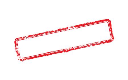 Frame of rubber stamps on white background illustration.