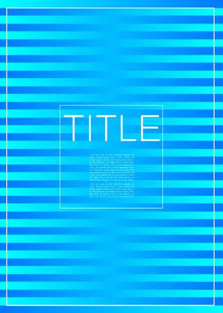 Covers design with title. Minimalistic vector illustration