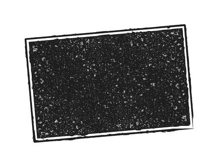 Vector illustration. Black rubber stamp