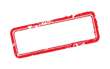 Marco de ilustración vectorial de sello de goma Ilustración de vector