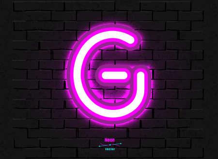 Vector Neon Letter G