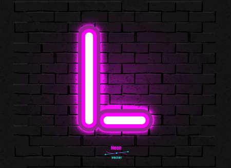 Vector Neon Letter L