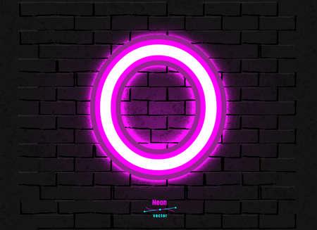 Vector Neon Letter O