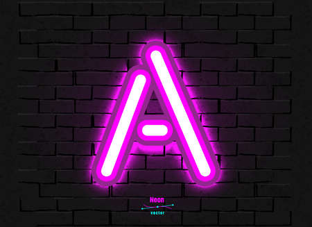 Vector Neon Letter A