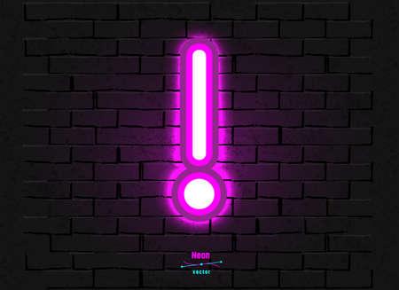 Vector Neon Symbol Foto de archivo