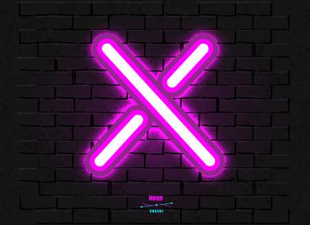 Vector Neon Letter X