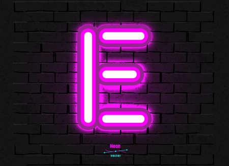 Vector Neon Letter E